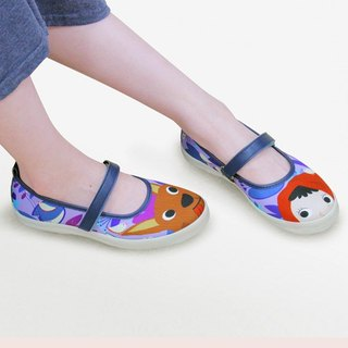 Red Riding Hood Fairy Tale Shoes - Blue Purple (Tulips) Women's Shoes