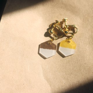Desert - pin clip-on earrings