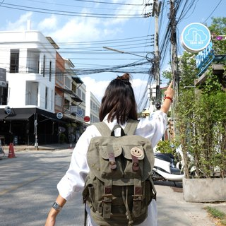 Military Jeans Backpack