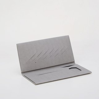 Paper bamboo Changle long wallet (gray)