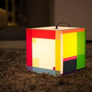 Color Out Your Day Light Cube Lamp by UNIQCUBE