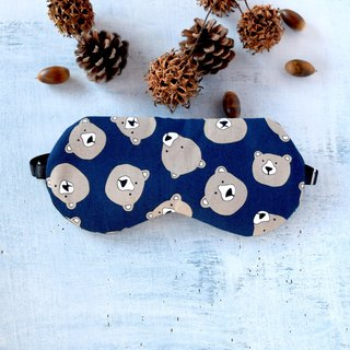 Bear/Navy/sleep mask