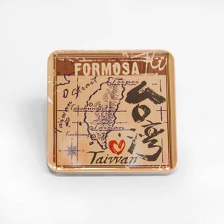 Ancient Map [Taiwan Impression Square Coaster]