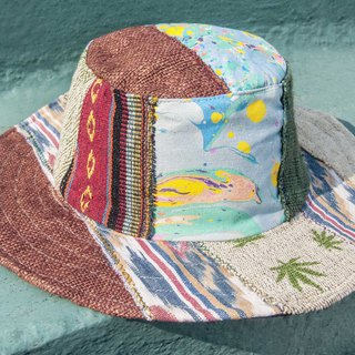 Moroccan style stitching hand-woven cotton cap hat hat fisherman hat visor - national wind