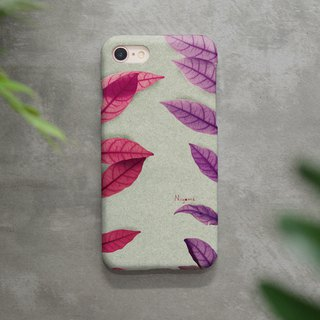 iphone case two side mix leaf for iphone5s, 6s, 6s plus, 7, 7+, 8, 8+, iphone x