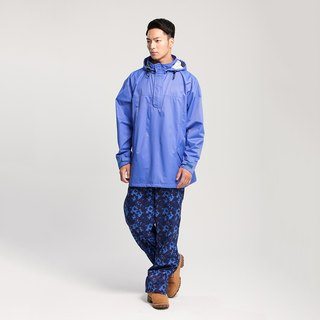 [MORR]HisBlaze neutral half-open waterproof jacket [Uranus blue]+Extend shoe cover rain pants [Camouflage Blue]Discount group