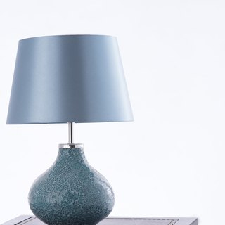 BNL00085 - duck egg blue mosaic table lamp