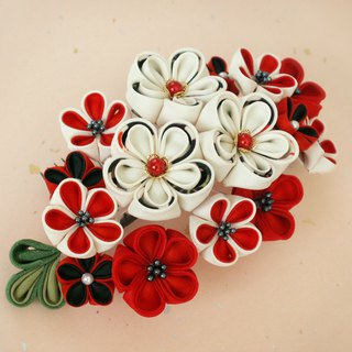 [New] hair ornament for adult ceremony 【hair ornament like large bouquet · white / black】