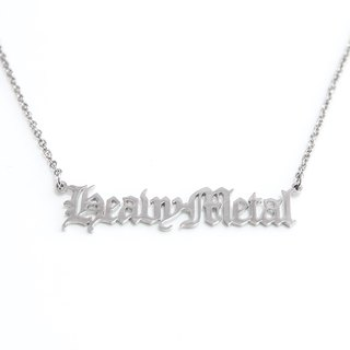 Custom name neklace with rock style