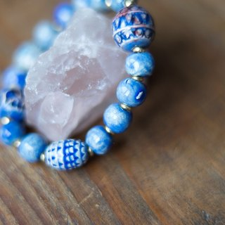 """Breath"" Cambodia ceramic stone bracelet"