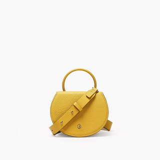 Bodhi says FOSTYLE first layer leather handmade leather new Messenger portable ring saddle bag lemon yellow