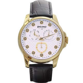 【PICONO】Bulky Gold with White dial watch / BK-4002