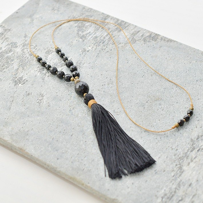 "Necklace/Tassel Necklace ""dark night"""