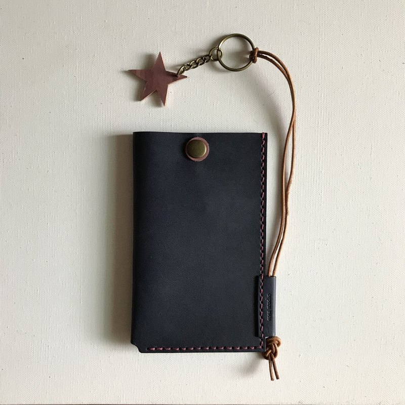 Key case │ package │ attached strap │ dark blue │ key holder