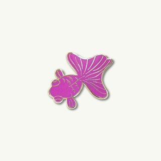Pink Goldfish Pin