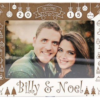 Customized carved wooden photo frame (4R photo) - A Christmas theme theme x personalize