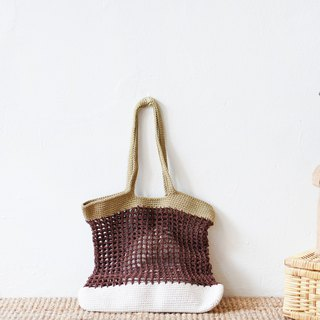 Brown Tone Nadia Crochet Bag