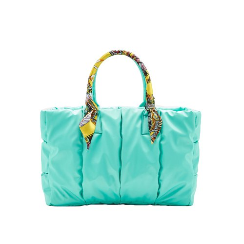 VOUS mother bag classic series Lake Green + Baroque echo scarf
