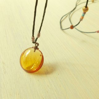 Yellow Essential Oil Bottle Necklace