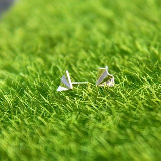 Bigman Taipa [Handmade Silver] Dream × Origami Airplane Sterling Silver Earrings