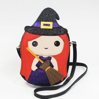 Flying broom witch childlike shape cross-body bag / animal bag - Cool Le Village