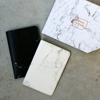 White marbled passport cover