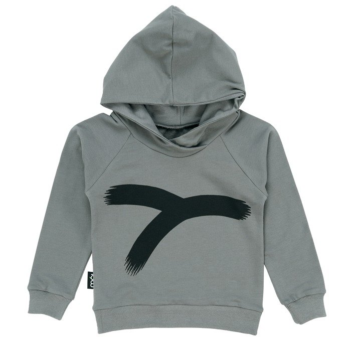 [Nordic children's clothing] Iceland organic cotton cotton hooded top _ gray Y word