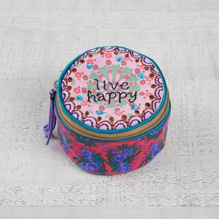 Embroidered Jewelry Box-Live Happy│BAG211