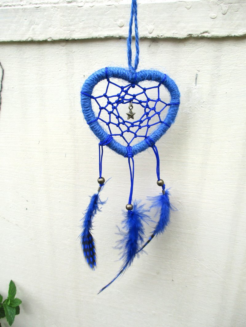 Little Kites - Heart Dreamcatcher - Royal Blue 7.5cm
