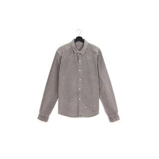 Back to Green :: Corduroy grey / / men and women can wear / / vintage Shirts