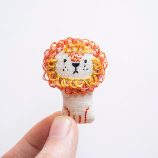 獅子胸針 Manely Lion mini brooch pin