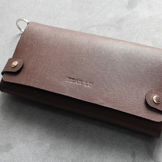 KAKU handmade leather A4 leather folder notebook folder