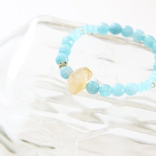 Fashionable Energy Jewels Collection - Aquamarine Quartz & Citrine Quartz bracelet