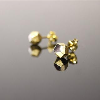 925 silver earrings irregular geometric stone type yellow K gold plating paragraph