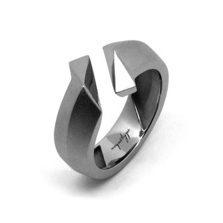 TWIST Ring / Gun Metal (exclusive design jewelry : silver)