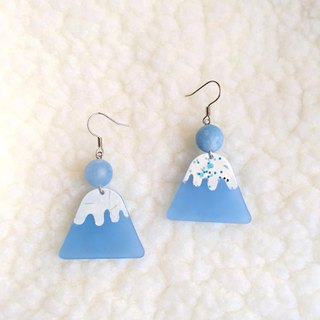Blue Mount Fuji / Earrings