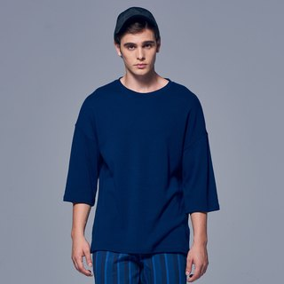 Stone'As Oversized 3/4 Sleeve T-Shirt In Blue / 藍 七分 T-shirt