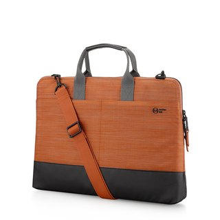 "<Lightweight anti-fouling more storage> Metro 15.6"" commuter cache business bag - Chaoyang Orange"