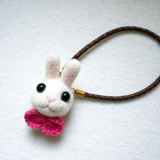 Petwoolfelt - Needle-felted rabbit accessories (bag charm / necklace)