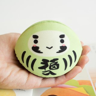 Green daruma coin purse. Bring Good health and vitality to owner.