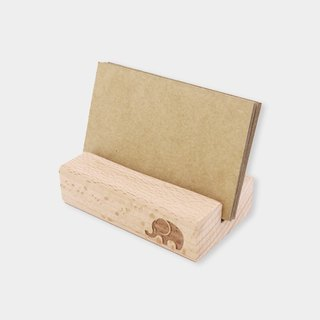 [small box] wooden business card holder / mobile phone holder S_ pattern version / wood / gift / gift / graduation gift