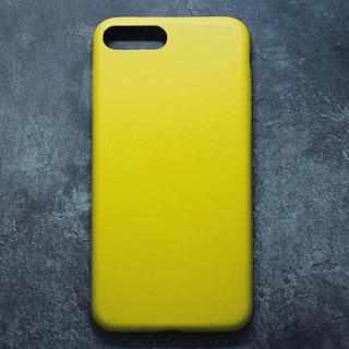 Solid Color Minimalist Leather iPhone Case - Lemon Yellow