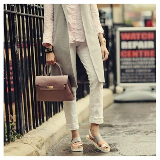 CLAVESTEP XIII Sandals - Leather Sandals - thirteen - Happy Pale Dogwood