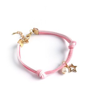 Handmade Simple Stylish Star Bracelets Rose Gold Series–pink limited