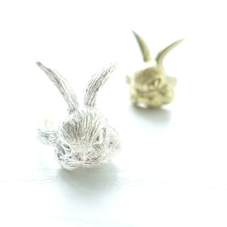 Bunny Rabbit Series - Rabbit Sterling Silver Brass Ring