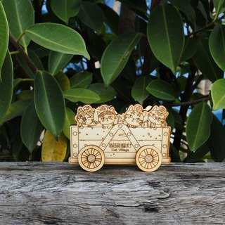 Lei carved wooden DIY tenon train [Hou hole meow number] Red Spring Festival New Year office practical birthday memorial gift 2018 Happy New Year!