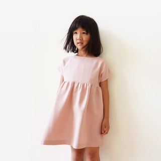 Harmony Yarn Knit Girl Dress - Powder