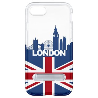 British wind hidden magnet bracket iPhone 8 7 6 plus phone case
