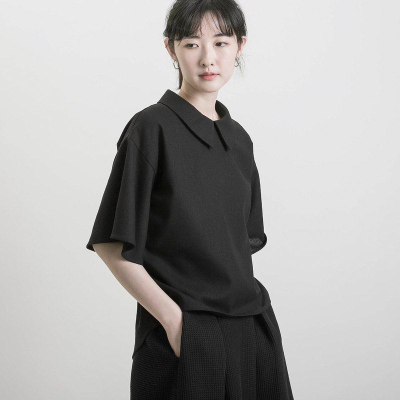 Secret_secret cotton shirt_9SF003_black