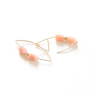 Minimalist Opal Earrings / Opal wire earring. X'mas.